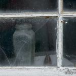 Norris Point jar in window