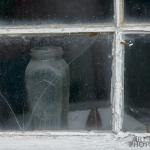Norris Point jar in window