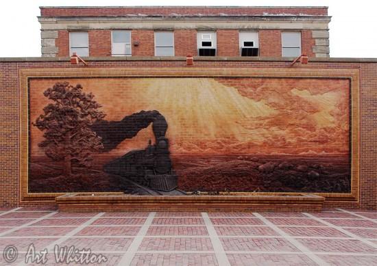Haymarket brick mural