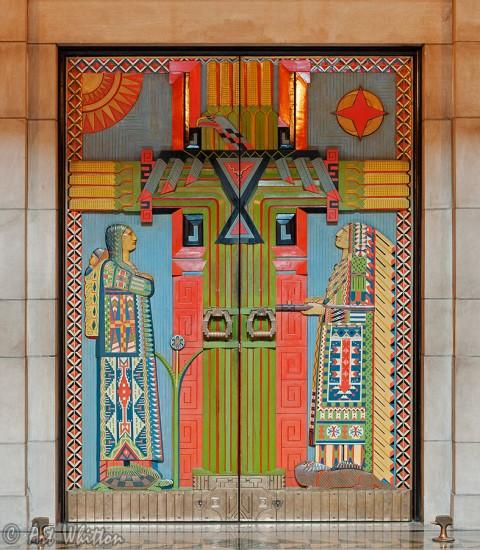 Nebraska state capitol building - Chamber Doors