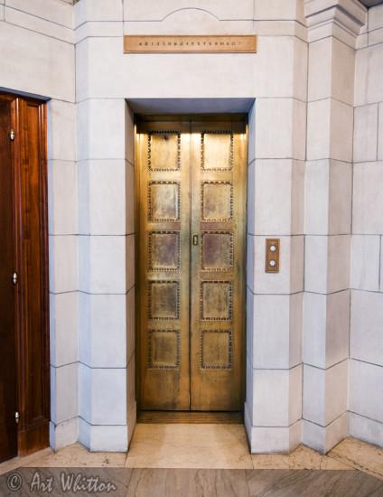 Nebraska state capitol building - Elevator