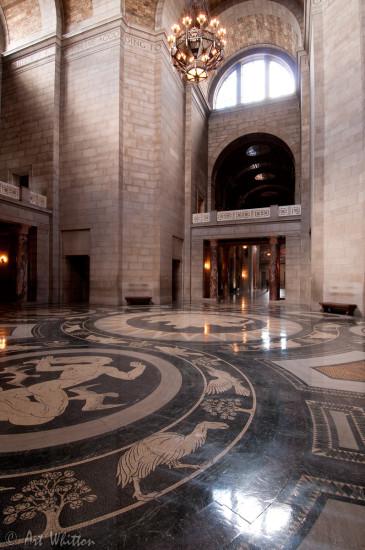 Nebraska state capitol building rotunda