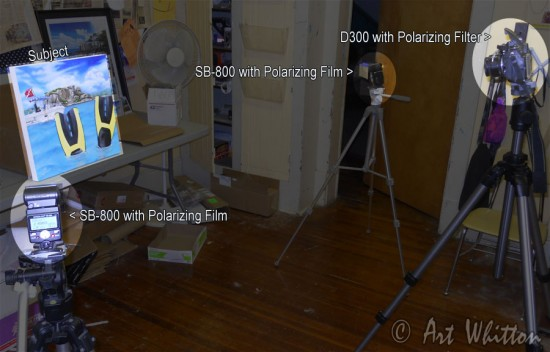 Polarized Flash for Photographing Paintings