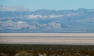 Dry Lake Bed - with Train