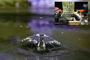 Water Drop Photography with Photo Background