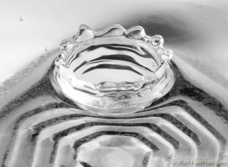 Water Drop Photography with a clear bowl