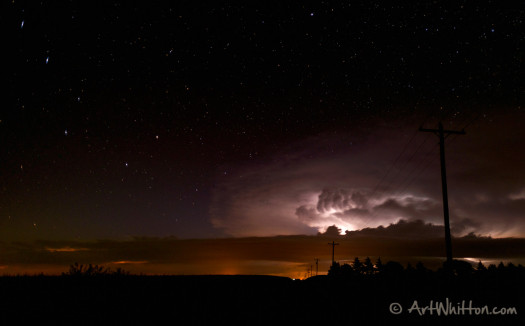 The Big Dipper and a Nebraska storm