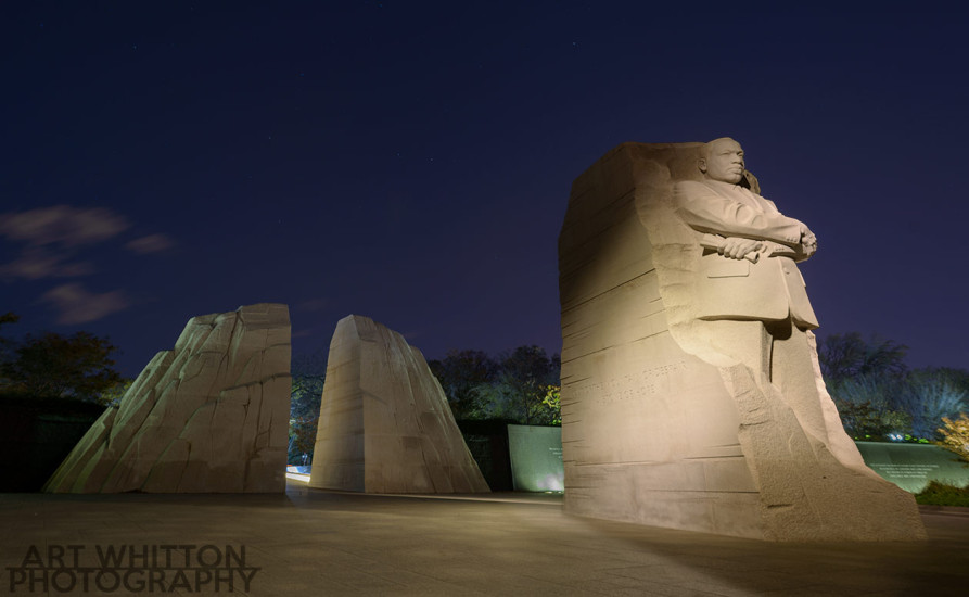 MLK Memorial at night