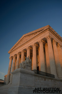 Supreme Court at golden hour