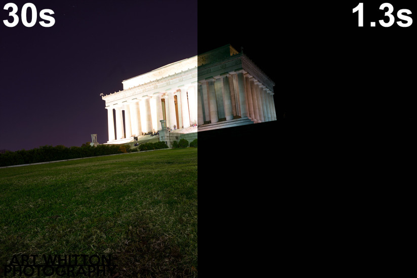 lincoln memorial two exposures