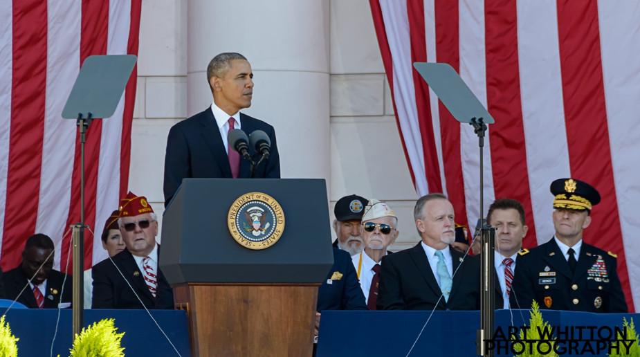 President Obam at Arlington - November 11, 2015