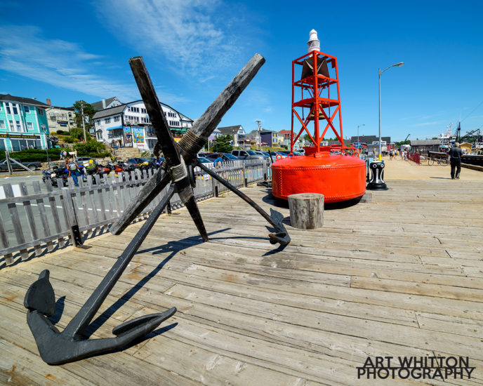 Lunenburg Nova Scotia waterfront anchor bouy