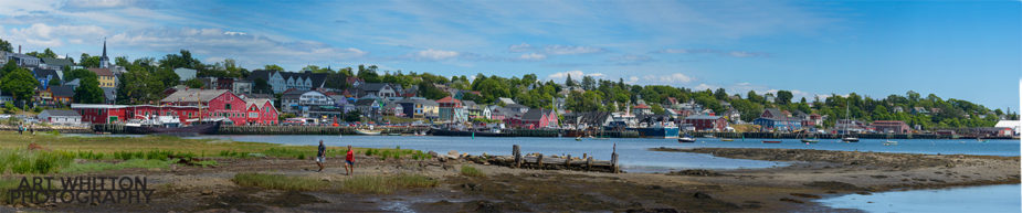 Lunenburg Nova Scotia Panorama of Waterfront