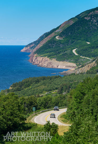 Cabot Trail road in Cape Breton Highlands National Park