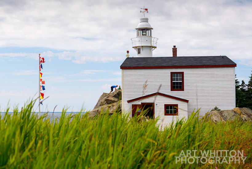 Lobster Cove Head Lighthouse and Signal Flags Newfoundland Photography