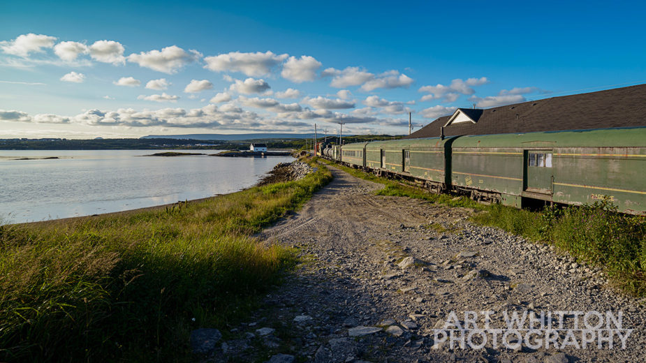 Newfoundland Photography Green train at Port Aux Basques