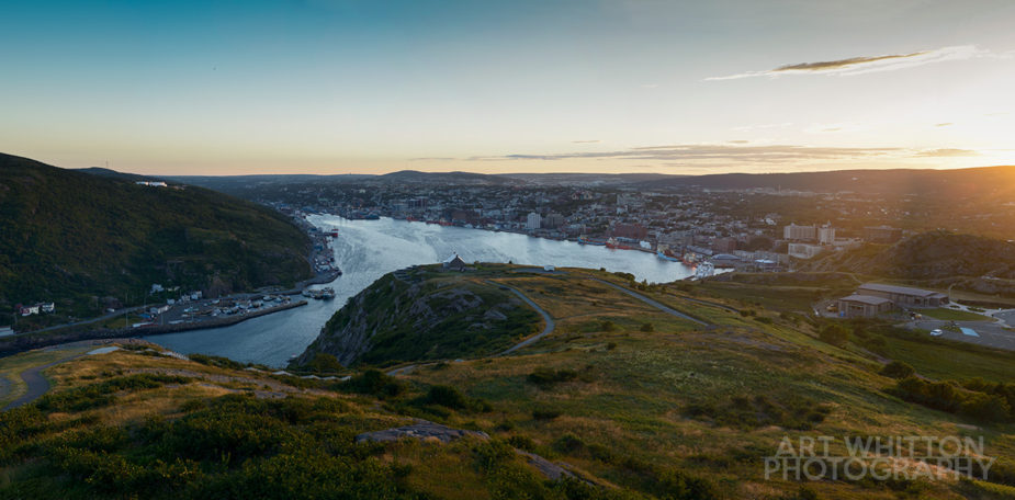 St John's Harbour from Signal Hill at Dusk - Sunset