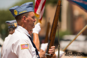 Small Town America - Legion members in Parade
