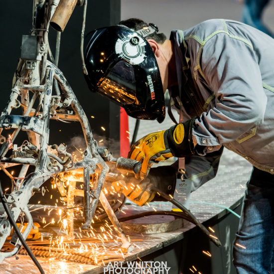 John Lopez scrap metal art show Doha Qatar 2019