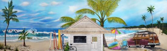 Beach mural - 14' x 4'