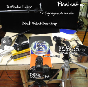 Water Drop Photography Setup