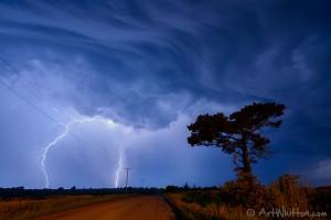Lightning near Chester Nebraska