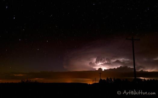 The Big Dipper and a Nebraska storm