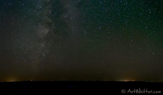NIght sky between Chester and Hubbell Nebraska