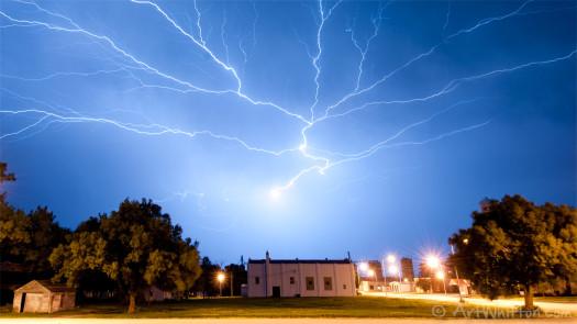 Lightning in Chester NE by Art Whitton